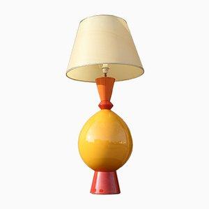 """Große Französische Keramik Tischlampe von Lampes d """""""" Albret, 1990er"""
