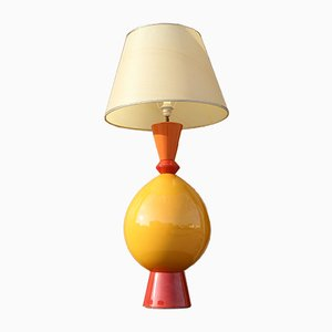 "Large French Ceramic Table Lamp from Lampes d""""Albret, 1990s"