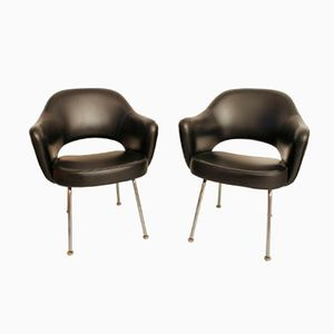 Vinyl Armchairs by Eero Saarinen for Knoll, 1958, Set of 2