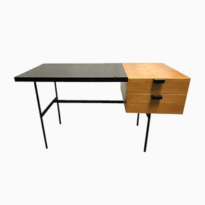 Mid-Century Oak Model CM141 Desk by Pierre Paulin for Thonet. 1954