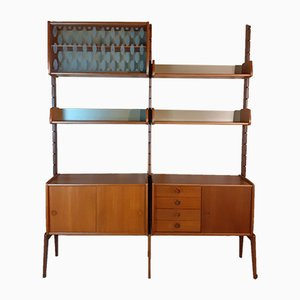 Teak Ergo Wall Unit with 2 Sections by John Texmon for Blindheim Møbelfabrikk, 1960s