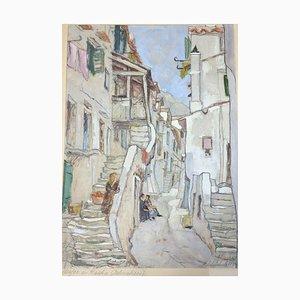 Hans Schürholz, Baska Road, 1930, Gouache