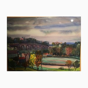 Hugo Rohleder, South City Vineyard, 1930, Aquarelle