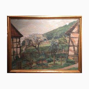 Gerhard Sy, jardín de la cabaña adornado con colores, 1886-1936