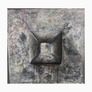 Arno Jung, 1948, Graue Formen, Öl auf Leinwand