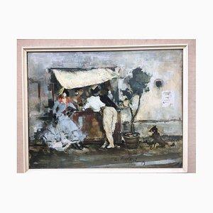 Wilhelm Kufittich, Galerie, 1957, huile sur bois