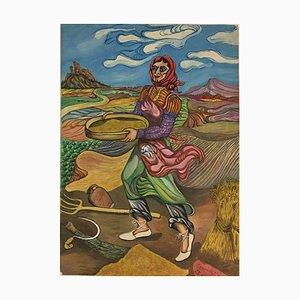 Campos Chicos Mujer con cuenco, 1976