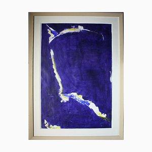 Frank Carola, Composition en bleu et blanc, 1968