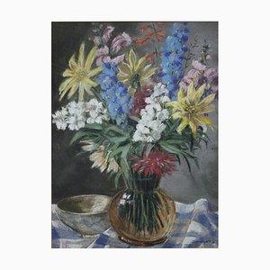 Dommusch, Sommerblumenst, 1937, Pastel