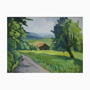Dorothea Karlsruhe, Summer Landscape, 1984, Gouache