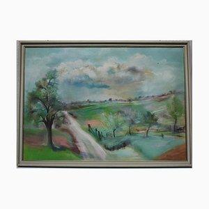 Sommer Landschaft, Pastellfarben