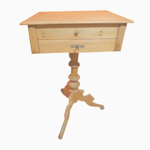 Antique Louis Philippe Softwood Sewing Table