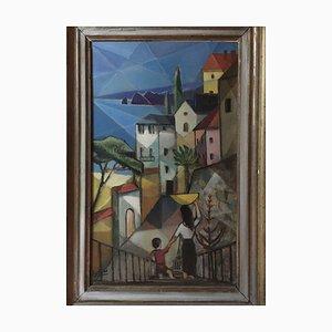Bernhard Sydow, 1912-1993, Lago de Garda, pintura al óleo