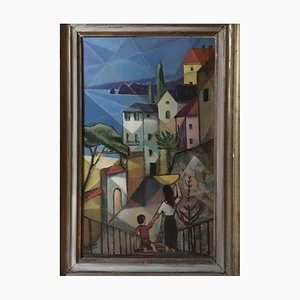 Bernhard Sydow, 1912-1993, Lake Garda, Oil Painting