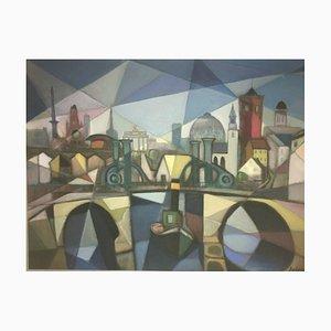 Bernhard Sydow, 1912-1993, Ziegenhain, peinture à l'huile