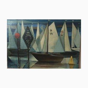 Bernhard Sydow, 1912-1993, voilier, peinture à l'huile
