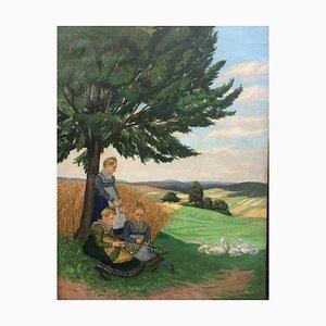 Hofler Marburger, Farming Women, 1887, Oil on Canvas