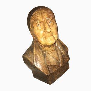 Hans Huggler-Wyss, 1877-1947, Hombre con gorra Schweitzer, Escultura