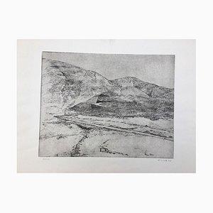 Helga Wirth Haas, Landscape, 1974, Etching
