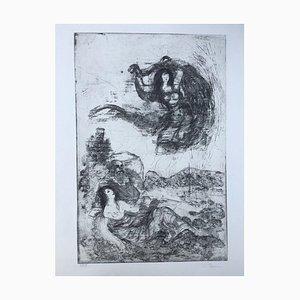 Christoph Donin, 1930, Nackte Frauen und Ein Mann, Radierung