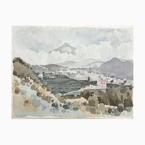 Zach Thomas, 1922, Canary Islands, Watercolor