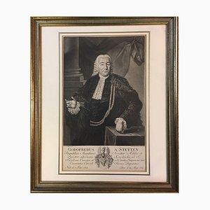 JE Haid, Godofredus von Stetten, 1776, Radierung