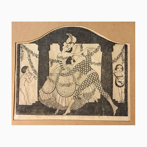 Star E Hanna, Pirot and Dancer, Etching