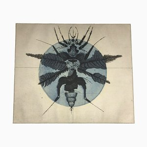 Bianga Carl Karl, 1930-2015, Insekt, Radierung