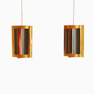Lámparas danesas de cobre. Juego de 2