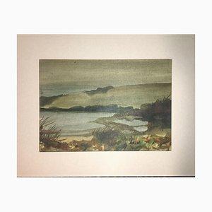 Vilius Dailininkov, 1996, Lake, Watercolor