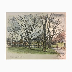 Reinhold Gelbert, 1912, Castle Park, Litografia Acquarello