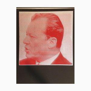 Willy Brandt, Red Silkscreen, 1970