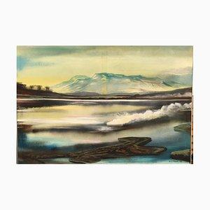 Werner Kausch, 1924-1993, Lake, Oil on Canvas