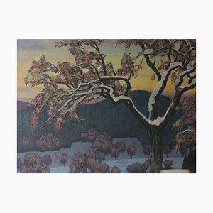 Rudolf Karasek, 1895-1986, Winter Nebel, Öl auf Leinwand