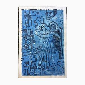 Gabriel Archangel, Woodcut