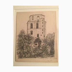 Heidelberg Castle Tower, Pencil