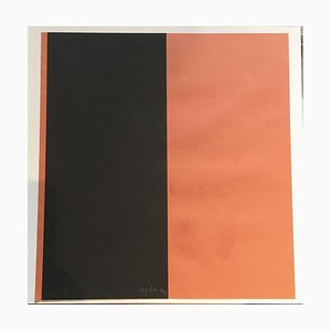 Albert Klaus Joachim, Black and Orange Collage, 1994
