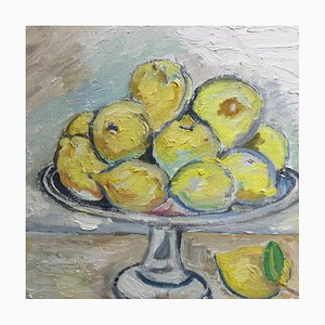 Peter Zinke, Lemon Still Life, 1997, Öl auf Leinwand
