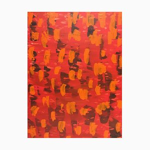 Composition in Orange, Oil on Canvas