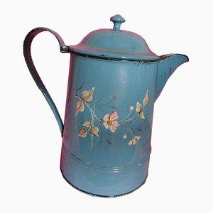 Blue Hand-Painted Enamel Coffee Pot