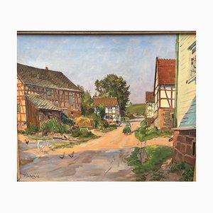 Paul Scholz, Bernsburg, 1943, Huile sur Toile