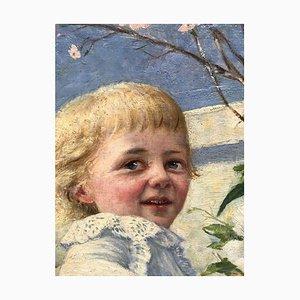 Henry Edward Corbould, Happy Child, Oil on Cardboard