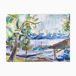 Chieming Harbor, 1976, Watercolor