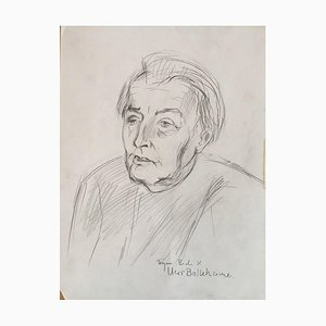 Bach Heymo, Mr. Balkheimer, 1972, Pencil Drawing