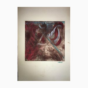Erica van Zon, Unicorn Tusk & Moon, Etching