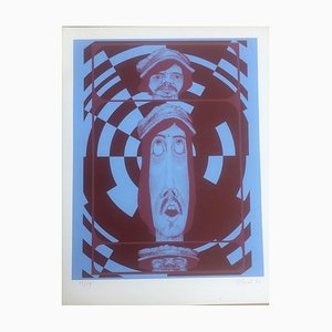 Peter Horak, Three Faces, 1947, Lithographie