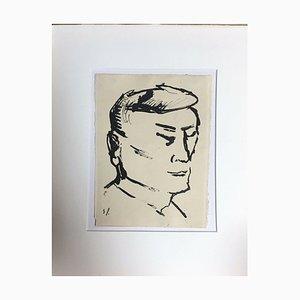 Retrato chino, tinta sobre papel