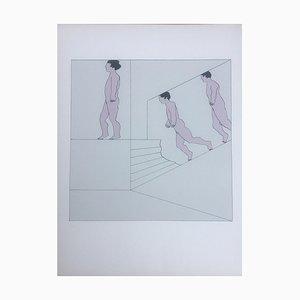Oskar Karl Blase, Three People, 1971, Lithograph