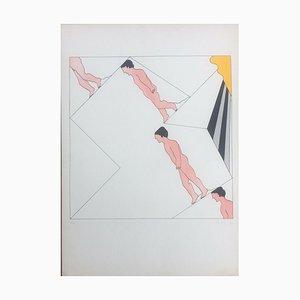 Oskar Karl Blase, Drei Menschen, 1971, Lithographie