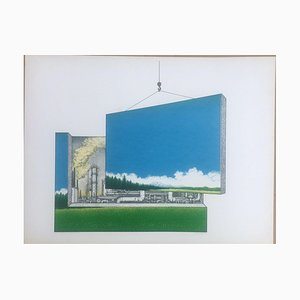 Friedel Deventer, Beautiful Environment, 1947, Lithograph